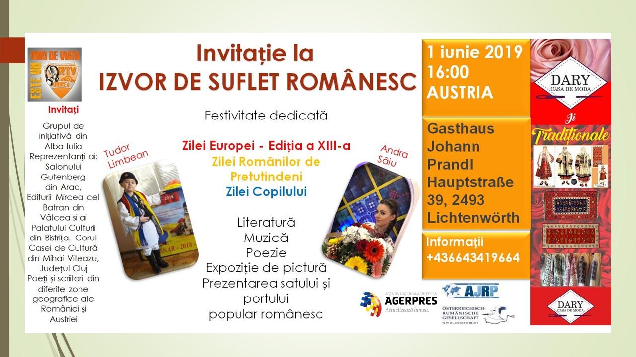 IZVOR DE SUFLET ROMÂNESC  AUSTRIA – 1 IUNIE 2019