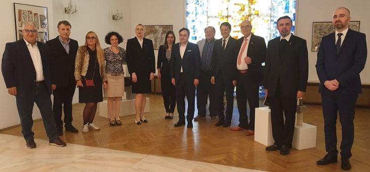Vizită oficială  la ambasada României de la Viena